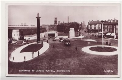 Birkenhead Tunnel Entrance c1950, Birkenhead