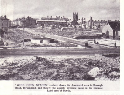 Borough Road and Brattan Road  WW2, Birkenhead