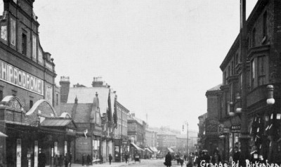 Grange Road and Hippodrome Theatre, Birkenhead