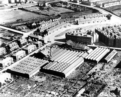 Aerial Lee Tapestry Works 1948, North End