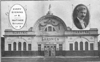 Saronie'sElectric Theatre Picture Play House circa 1910 (The Royal Pavillion - The Picture Theatre - The Park Skating Rink - The Gaumont - Quasar - Roller World - Furniture World), Birkenhead